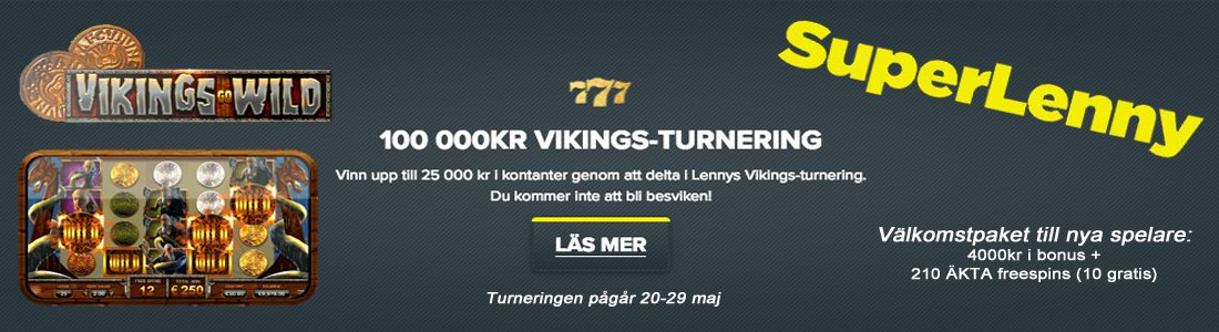 100 000 kr Viking Go Wild turnering