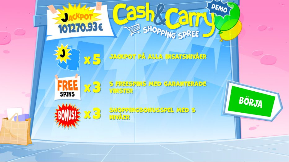 cash and carry shopping spree