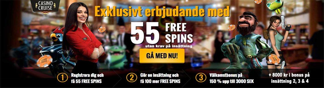 Vinn gratis hos CasinoCruise